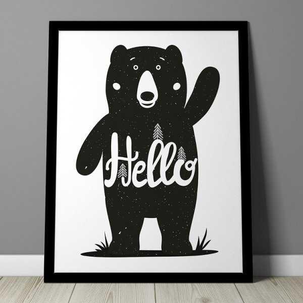 HELLO MIŚ - Plakat dla dzieci