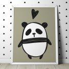 LOVE PANDA - Plakat dla dzieci