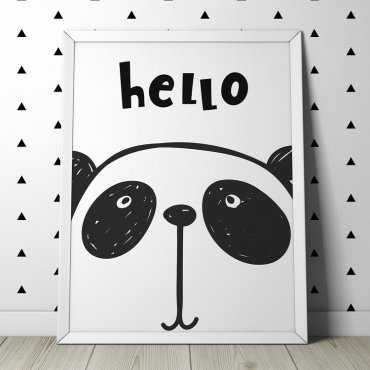 HELLO PANDA - Plakat dla dzieci