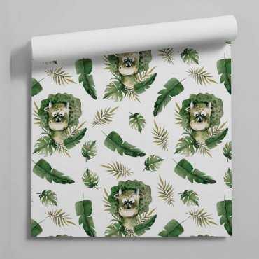 tapeta dino leaves
