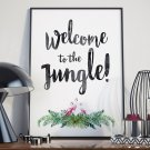 WELCOME TO THE JUNGLE - Plakat w ramie