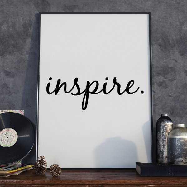 INSPIRE - Plakat typograficzny