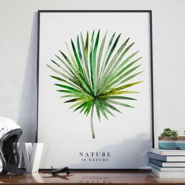 Nature Is Nature Plakat W Ramie
