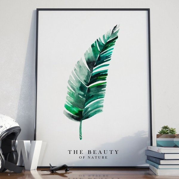 THE BEAUTY OF NATURE - Plakat w ramie