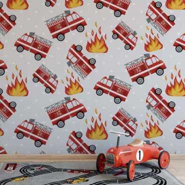 tapeta fireman art