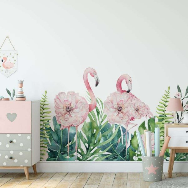 tapeta flamingo border