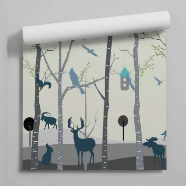 tapeta forest fauna