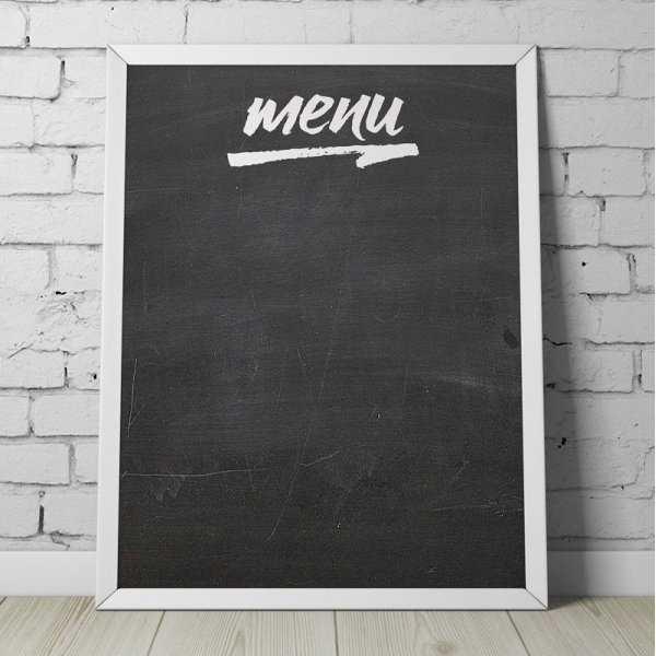 "Designerska tablica kredowa z napisem ""MENU"""