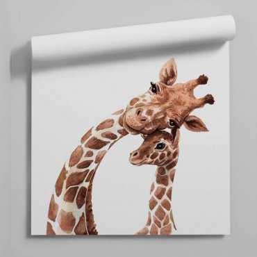 tapeta giraffe family