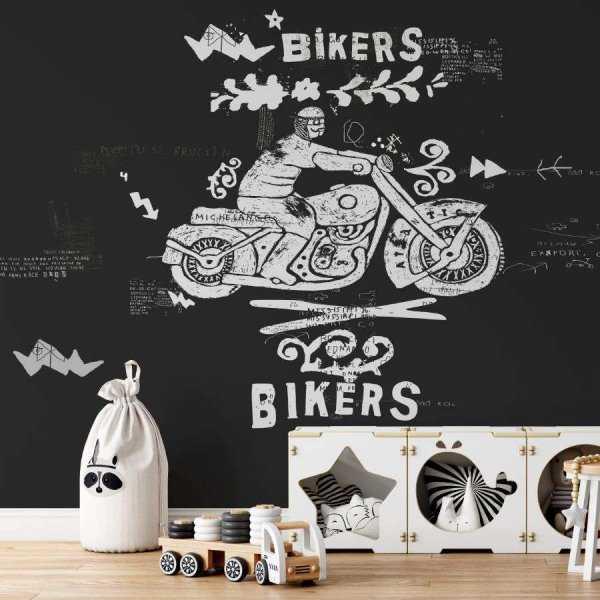 tapeta grunge bikers