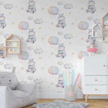 tapeta hippo balloons