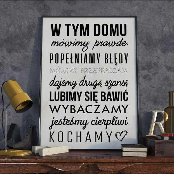 W TYM DOMU - Plakat typograficzny