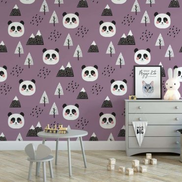 tapeta panda purple