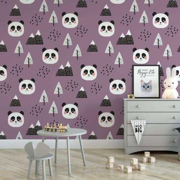 tapeta panda purple