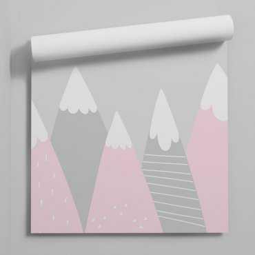 tapeta pink mountains