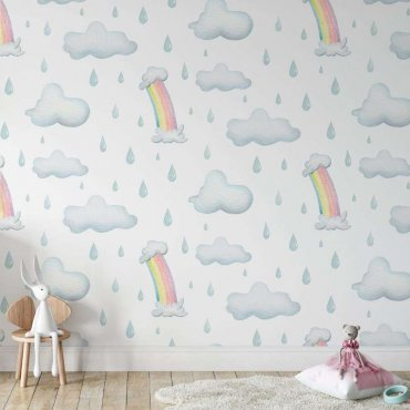 tapeta rainy rainbow