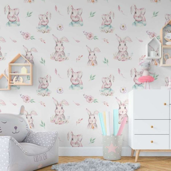 tapeta shy rabbits