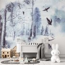 tapeta snowy forest