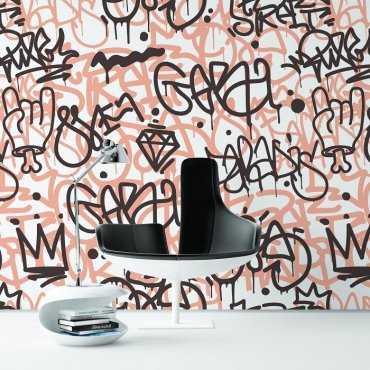 LADY GRAFFITI - Modna tapeta ścienna