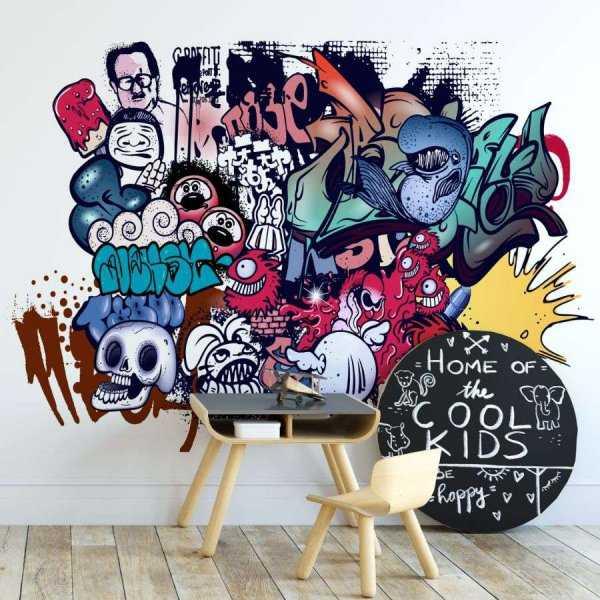 tapeta teenager graffiti