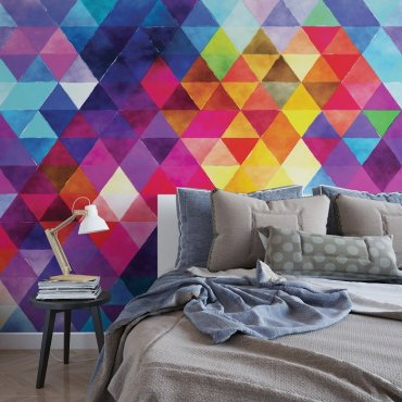 Kolorowe Trójkąty - Fototapeta designerska