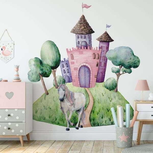 tapeta unicorn castle