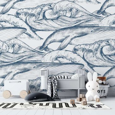 tapeta whales design