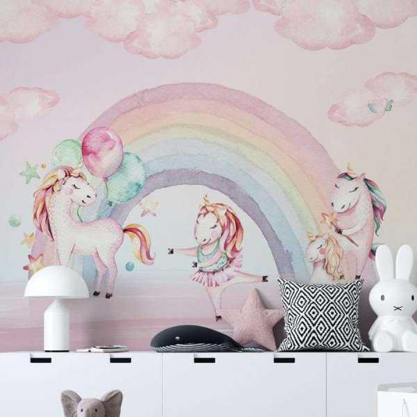 tapeta unicorn pink