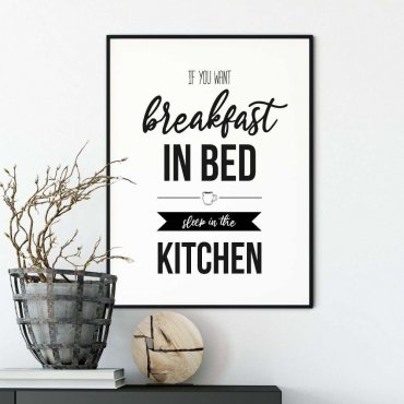 plakat breafkast in bed