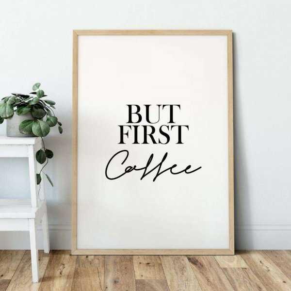 BUT FIRST COFFEE DESIGN plakat