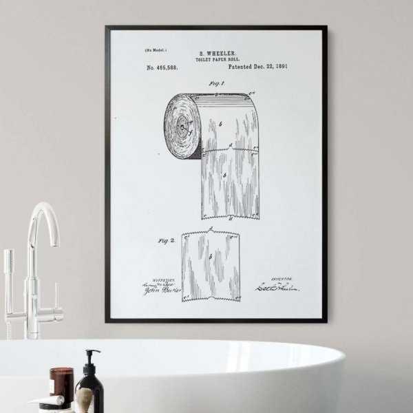 plakat retro toilet