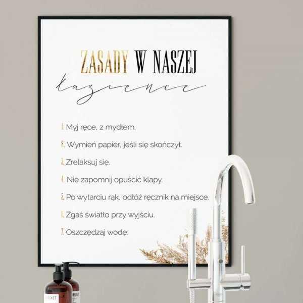 plakat zasady w łazience
