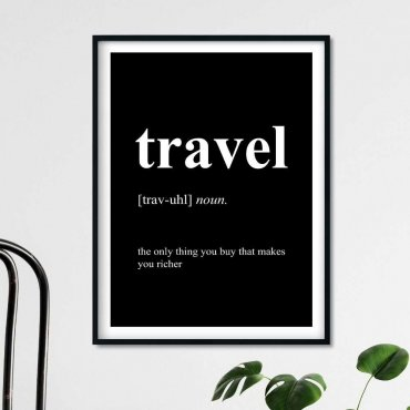 plakat travel definition
