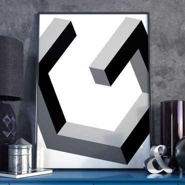 ABSTRACT 3D - Plakat w ramie