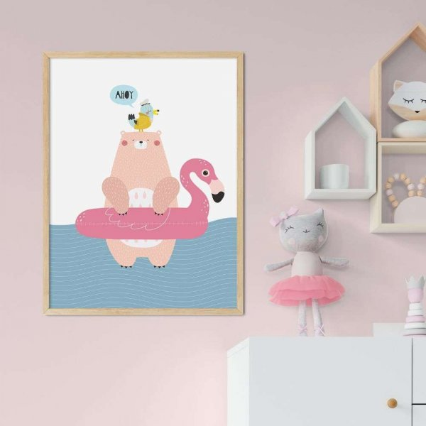 plakat ahoy flamingo