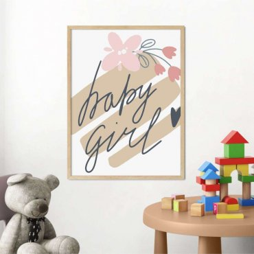 plakat baby girl art