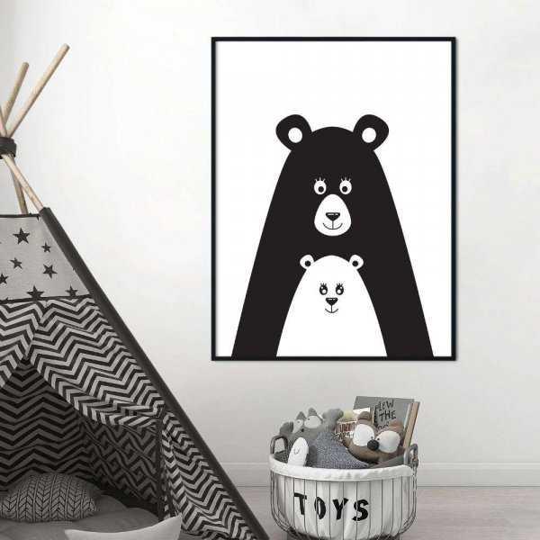 plakat bears family