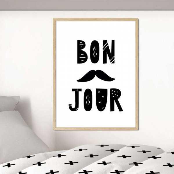 plakat bon jour art