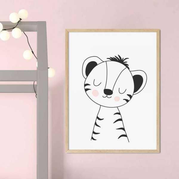 plakat cute little tiger