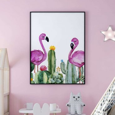 plakat flamingo friends