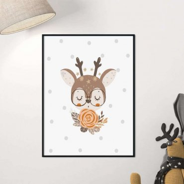 plakat forest deer