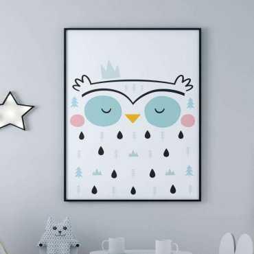 plakat forest owl