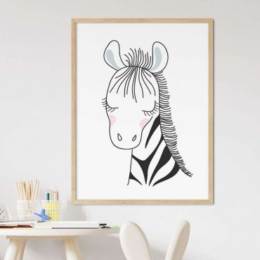 plakat gentle zebra