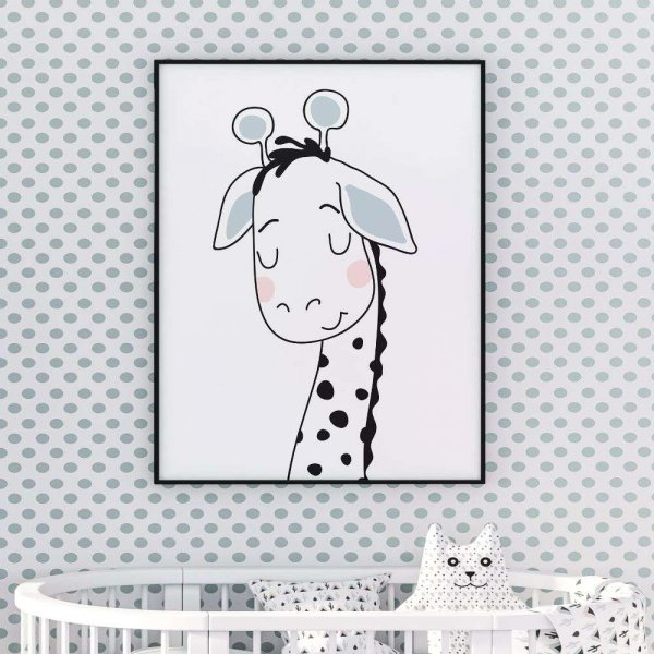 plakat giraffe love
