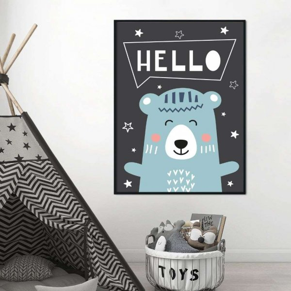 plakat happy hello bear