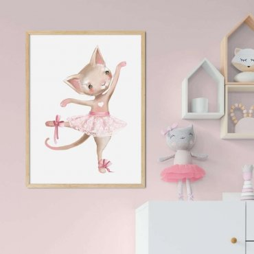 plakat kitty ballerina