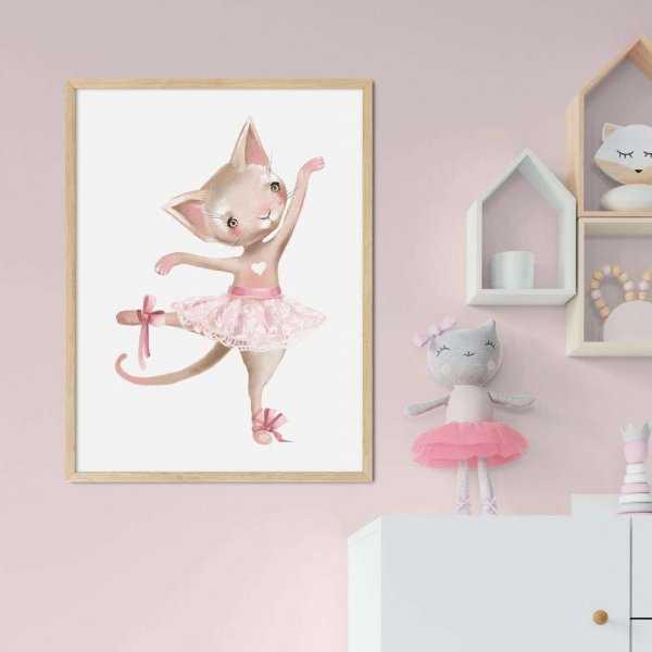 plakat kitty ballerina