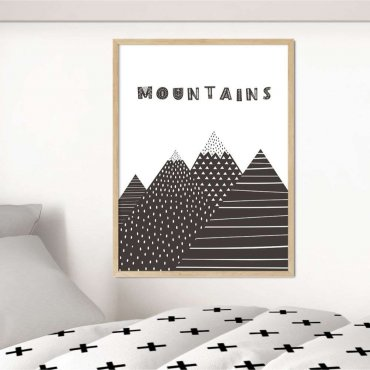 plakat mountains pattern