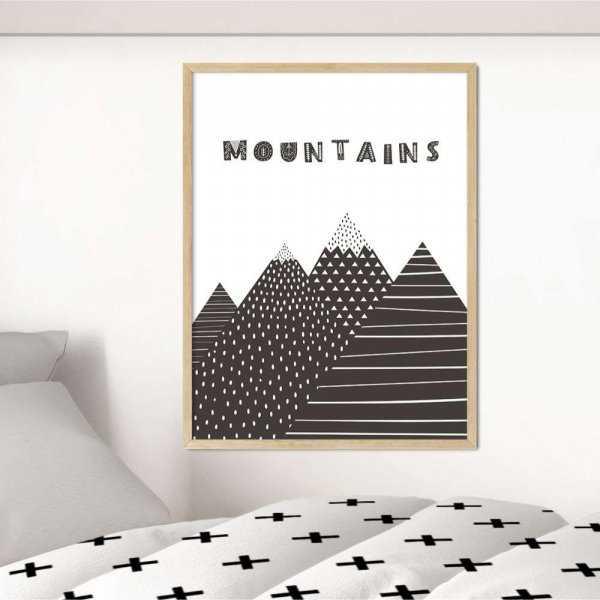 plakat mountains pattern