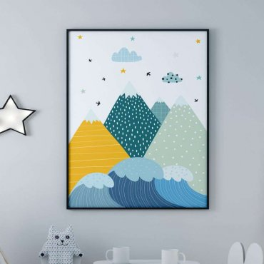 plakat mountains see